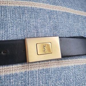 Vtg YSL leather belt